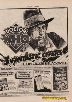 Time travelling beans.  Just when you thought Tom Baker couldn't be cooler!