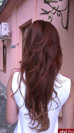 Beautiful short layers on long hair