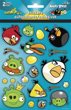 Angry Birds Foldover Stickers