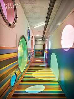 Join the fun a playful daycare center in spain by elap Kindergarten Interior, Kindergarten Design, Kindergarten Units, Daycare Design, School Design, Interior Design Magazine, Design Maternelle, Daycare Rooms, Colour Architecture