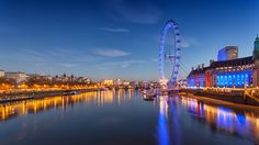 London Eye  The London Eye is a giant Ferris wheel on the South Bank of the River Thames in London. Also known as the Millennium Wheel.