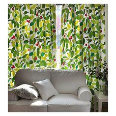 70 Decorative Tropical Print Green Fiber Modern Curtains Designs