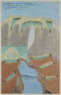 Joseph Yoakum, 'Mt. Magazine of Blue Range,' 1969, Fleisher/Ollman