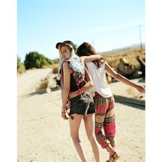 Rachel Rutt and Stella Maxwell Go on the Road for Urban Outfitters'... ❤ liked on Polyvore featuring pictures, people, models, photos and images