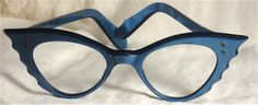 Faux vintage look in blue with nice ripple detail at sides - Miss Spectacles: January 2012