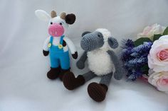 Cow and sheep crochet pattern / farm animals crochet pattern by suwannacraftshop on Etsy