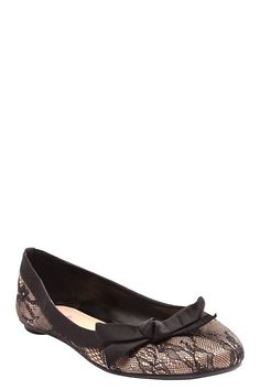 Serina Nude And Black Lace Flats $28.50