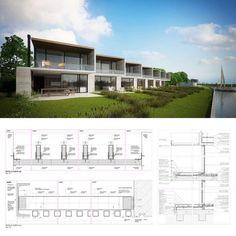 House Projects Autocad Ideas For 2019 Duplex Design, Townhouse Designs, Modern Buildings, Modern Architecture, Habitat Groupé, Best Home Interior Design, Villa, Renting A House, Facade