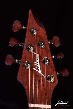 Jillard Guitars - Custom Paduak Empress-  Fan Fret Guitar Headstock