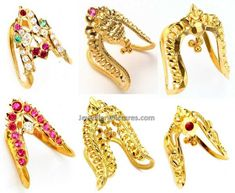 Six beautiful designs of 22 caart Gold Vanki ring by Totaram jewellers.Vangi or Kanganam or kai Kaapu is commonly used to ward off evil lucks. It has its own significance in Vedic terms. There are lot of ornaments which are used from time immemorial. This is called as Neli ring in Tamilnadu. Related PostsPeacock Vanki …