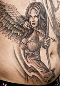 Warrior Angel Tattoos | Front Angel Warrior tattoo