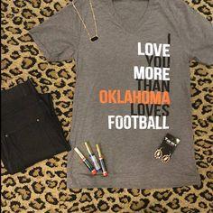 I love you more than OKLAHOMA loves football-orange women