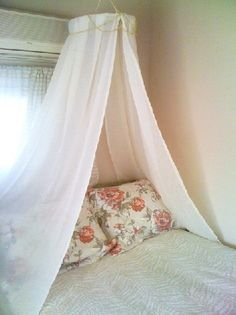 DIY Canopy/Bower using drapes & embroidery hoop