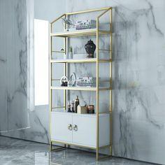 Antique Shelves, Vintage Shelf, Bar Set Furniture, Cabinet Furniture, Elegant Home Decor, Elegant Homes, Bedroom Bed Design, Interior Design Living Room, Wall Mirror With Shelf