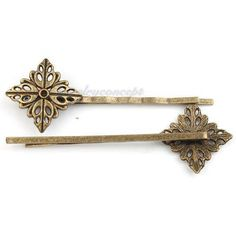 20x 160697 New Hair Accessories Clips Barrettes Antique Bronze Alloy Findings | eBay