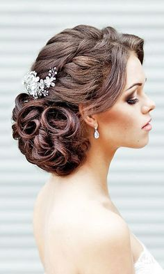 18 Most Romantic Bridal Updos And Wedding Hairstyles ❤ See more: http://www.weddingforward.com/romantic-bridal-updos-wedding-hairstyles/ #wedding #bride