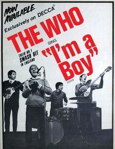 Release of the single I'm a Boy. 1966 from Billboard magazine Hit Boy, Pictures Of Lily, Billboard Magazine, Vintage Concert Posters, 60s Music, Tour Posters, My Generation, Vintage Music, Great Bands