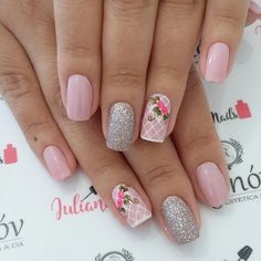 Best Nail Art Designs 2018 Every Girls Will Love These trendy Nails ideas would gain you amazing compliments. Check out our gallery for more ideas these are trendy this year. Gorgeous Nails, Love Nails, Pink Nails, My Nails, Trendy Nail Art, Cute Nail Art, Easy Nail Art, Finger, Acryl Nails