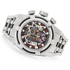 Invicta Reserve 52mm Bolt Zeus Swiss Made COSC Stainless Steel Bracelet Watch