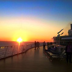 Royal Caribbean Oasis of the Seas sunset Photo by anadrulla
