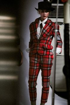 Punk #tartan suits at Vivienne #Westwood Red Label AW14 LFW