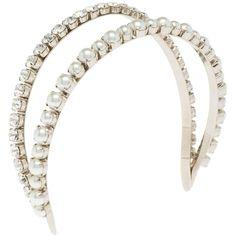 Miu Miu Headband (590 AUD) ❤ liked on Polyvore featuring accessories, hair accessories, headbands, jewelry, hair, hair bands accessories, headband hair accessories, hair band headband, miu miu and miu miu headband