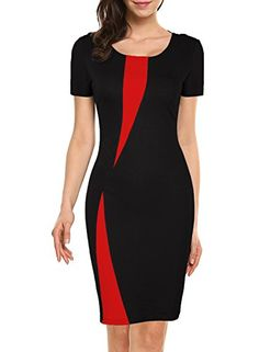 online shopping for WOOSEA Women's Short Sleeve Colorblock Slim Bodycon Business Pencil Dress from top store. See new offer for WOOSEA Women's Short Sleeve Colorblock Slim Bodycon Business Pencil Dress Trendy Dresses, Casual Dresses, Dresses For Work, Dress Outfits, Fashion Outfits, Party Outfits, Fashion Boots, Fashion Magazin, African Fashion Dresses