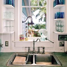 Bon Small House With Tiny Kitchen Space Ideas. Becky Wood · Kitchen Window  Shelves