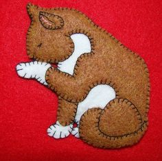 Kitty Ornament-Magnet combination. Cat Christmas by justsue