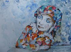 Saatchi Online Artist Kostin Sergey; Painting, Harlequin #art