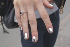 Chrome Foil Nails