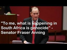 Breaking: Australian Senator recognise genocide happening in South Africa Current Events, The Fosters, South Africa, The Past, Europe, Shit Happens, World, Youtube, History
