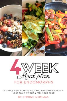 Are you an endomorph struggling to lose weight and feel your best? This is a simple 4-week meal plan to help you have more energy, lose some weight and feel your best!