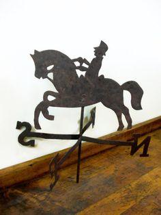 Vintage Weather Vane, Wind Vane, Handmade, Folk Art, Horse, Equestrian on Etsy, $25.00