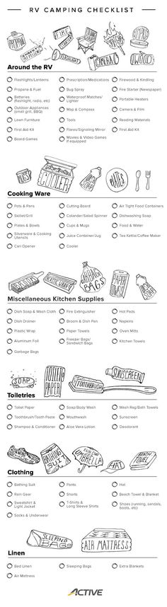 Infographic: Your Printable RV Camping Checklist
