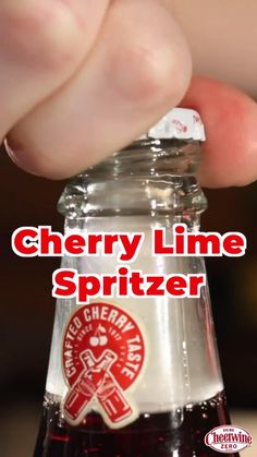 The Cheerwine Cherry Lime Spritzer cocktail has just the right amount of sweetness, without all the sugar. Made with Cheerwine Zero Sugar, this cocktail is a must on warm summer days. Save this drink to try at your next happy hour or backyard cook out. Click the pin to find Cheerwine near you. Cheers! Cocktail Recipes, Cocktails, Drinks, Low Sugar Diet, Southern Recipes, Happy Hour, Summer Days, Glass Bottles, Cheers