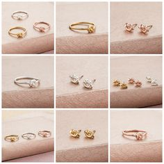 Tie The Knot Rings and Earrings