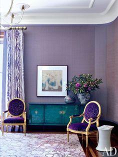 Louis Chairs | Wallpaper Ideas | Violet Purple | Color Trend | Home Decor | Interior Design