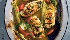 Weeknight chicken with citrus and fennel Fennel Recipes, Recipe Search, Vegetable Pizza, Baking Recipes, Delicious Desserts, Zucchini, Easy Meals, Chicken, Dinner