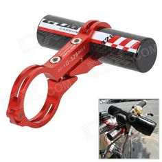 GUB CNC 329 Carbon Fiber Bike Flashlight Extension Holder - Red Price: $20.90