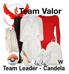 """""""Pokemon Go - Team Valor"""" by wearwhatyouwatch ❤ liked on Polyvore featuring WearAll, Valor, Sif Jakobs Jewellery, SPANX, Patrizia Pepe, Christian Louboutin, Jamie Sadock, PB 0110, wearwhatyouwatch and nintendo"""