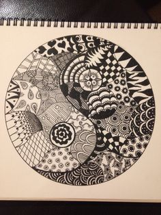 Yin & Yang Zentangle