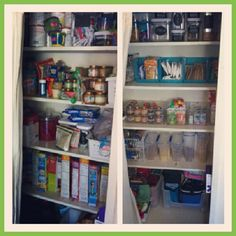 Organized Pantry with Helena A Personal Organizer - Check for the organizing gadgets you need for your type of pantry.