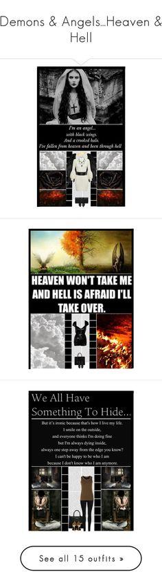 """Demons & Angels...Heaven & Hell"" by irresistible-livingdeadgirl ❤ liked on Polyvore featuring fallenangel, demons, heaven, angels, hell, Oris, Alexander McQueen, Yves Saint Laurent, Hot Topic and AlexanderMcQueen"