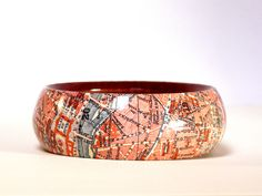 Armreife - Armreifen PARIS 1923 Cité Vintage City map - ein Designerstück von PappLePapp bei DaWanda