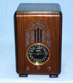Antique Deco Zenith Wood Tube Tombstone Radio Completely Restored with Warranty | eBay