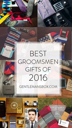 Gentleman's Box offers custom groomsmen gift boxes with 4-5 mens grooming products and accessories. Each box is curated with your groomsmens' taste in mind, and starts at only $25! Visit GentlemansBox.com for more info!
