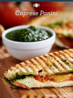 Cheese, please! This hot and toasty caprese panini has YUM written all over it!