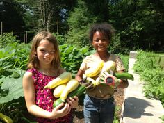 Fresh Air friends gardening during their summer experience.