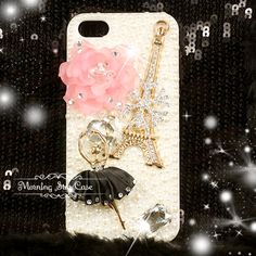 iPhone 5 Case Bling iPhone Case Crystal iPhone by MorningStarCase OMG THIS IS PERFECT I AM IN HEAVEN IT EVEN HAS A BALLERINA ON IT  I AM SOCKED LOVE LOVE AT FIRST SIGHT OOLALA